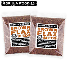 Gorilla Food Co. Brown Flax Seeds Whole Raw (2x1Lb) - Free Priority Shipping :)