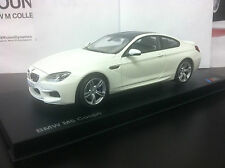 2013 BMW M6 F13 Coupe  Alpine White 1/18th    Factory BMW Diecast