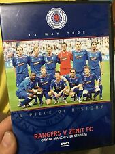 A Piece Of History - Rangers V Zenit FC (soccer UEFA cup finals) * rare * sports