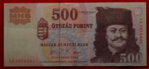 Uncirculated 2003 Hungary 500 Forint Note