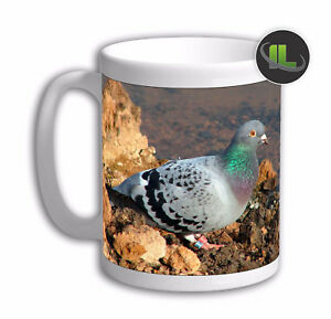 Personalised Pigeon Mug Dove Bird Mug. Customise with your own text. FOC. IL6367