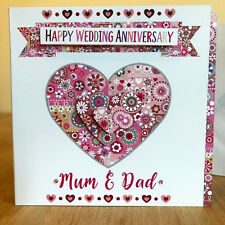 Special Wedding Anniversary card Personalised ANNIVERSARY Wedding CARD CARDS