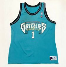 Vintage Champion NBA Vancouver Grizzlies #1 Jersey Sz 48 Made in USA
