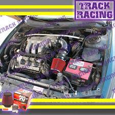 93 94 95-97 FORD PROBE GT MAZDA MX6 626 2.5 2.5L V6 AIR INTAKE+K&N Black Red TB