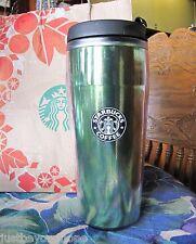 Starbucks 2004 Green Metallic Barista Travel Tumbler 16 oz