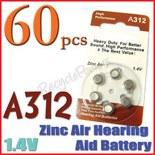 60x A312 PR41 7002ZD 1.4V Zinc Air Hearing Aid Battery