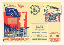 "CE28-IIB Postcard Council Europe ""Adhesion Portugal - MEDEIROS FERREIRA"" 09-1976"