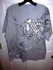 FORD MUSTANG lrg T shirt muscle-car Ford pony cap goth tattoo logo industrial OG