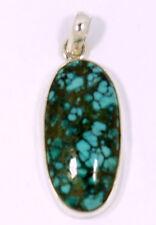 Chrysokolla colgante en plata 925 crisocola Edelstein joyas pendent