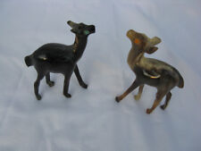 "A Set Of Two Egyptian Buffalo Horn Deer Animal Figurine #B13  3.5"""