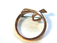 Renoir Vintage Copper Circle Pin Brooch Signed