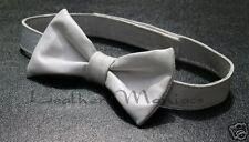 blanche lederfliege nœud Cravate en cuir