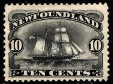 Newfoundland SG  54 Cat £75 10c Black Atlantic Brigantine 1887 MNG
