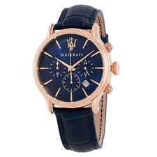 Maserati Epoca Blue Dial Blue Leather Men's Watch R8871618007
