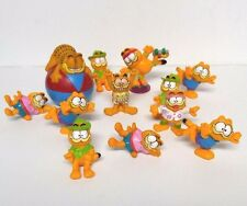 Vintage Garfield Toy Lot Figures 1978-1981 PVC Figurines Cat Kitty Happy Meal