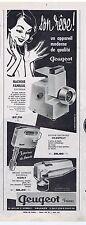 PUBLICITE ADVERTISING 104 1961 PEUGEOT appareils ménagers