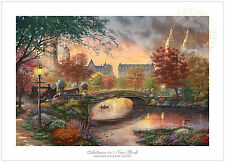 Thomas Kinkade Autumn in New York 18 x 27 S/N Limited Edition Paper