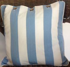 Cushion Cover Hampton Blue White Stripe Decorator Scatter Case Chair Sofa Daybed