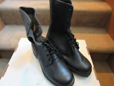 PAIR US ARMY BLACK COMBAT BOOTS MEN'S SIZE 8 WIDE MARINES ROTHCO June 1984