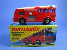MATCHBOX SUPERFAST 35 MERRYWEATHER FIRE ENGINE, RARE BOX. 99.9% MIB!