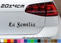 La Familia 20x4cm Aufkleber Mafia Familie Auto Car Tuning JDM OEM Sticker Bomb