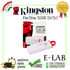 PENDRIVE KINGSTON ORIGINALE USB 3.1 CHIAVETTA FLASH DRIVE 32 GB MEMORIA