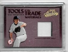 MIKE MUSSINA 2002 PLAYOFF ABSOLUTE TOOLS OF THE TRADE P/S GAME USED JERSEY#/300
