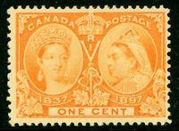 Canada 1897 Jubilee 1¢ Scott # 51 Mint W696