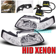 99-04 FORD MUSTANG CRYSTAL HEADLIGHT+HID 6K LAMP CHROME 00 01 02 03 GT SVT COBRA