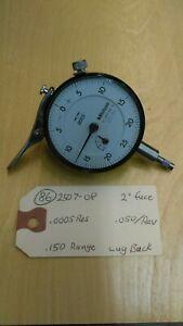 """Dial Indicator .001/"""" Range White Mitutoyo 1167 Wescon DSI 5707 MDI 1167"""