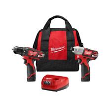 Milwaukee 2494-22 M12 Li-Ion 2-Tool Combo Kit (1.5 Ah) New