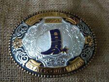 GIST Silversmiths Trophy Belt Buckle 2006 Georgia HSRA State Qualifier Rodeo