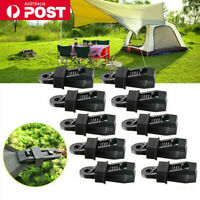 20pcs Awning Tent Clamp Tarp Clips Camping Plastic Canopy Buckle Heavy Duty AU