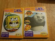 SpongeBob Squarepants + Kung Fu Panda 2 Fisher Price iXL Learning System Age 3-7