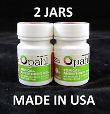 2 JARS Opahl 20% Benzocaine Topical Anesthetic Gel MINT Tattoo Numbing Piercing