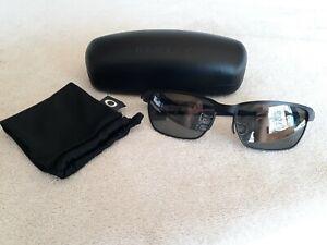 Oakley Tinfoil Carbon Satin Black/Steel - Black Iridium Polarized - NEAR MINT