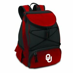 Picnic Time PICNIC TIME NCAA Oklahoma Sooners PTX Insulated Backpack Cooler, Red