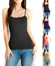 LOT OF 10 Camisole with Built in Shelf BRA Spaghetti Strap Tank Top Smalls