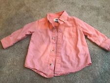 Peach Long Sleeve Polo Old Navy Size 12-18 Months