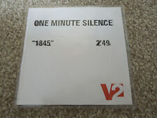 RARE PROMO CDR - ONE MINUTE SILENCE - 1845. 1 TRACK SAMPLER BUY NOW SAVED LATER