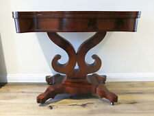 Early Victorian flame mahogany fold over games table ( Refurbished )