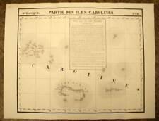 LES ILES CAROLINES carte geographique par VANDERMAELEN 1827 old map antique