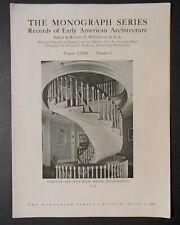White Pine Monographs Vol XXIII No1 Historic Boston MA 1937 Whitehead Chouteau