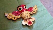 Owl Hand Made and Painted  Single Coat Hanger Eastern European