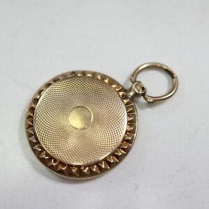 Historischer Medaillon Kettenanhänger 585 Gold 19. Jhd. = 3,8 g