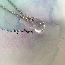 Authentic Tiffany & Co Elsa Peretti Mini Small Crystal Teardrop Necklace REMADE