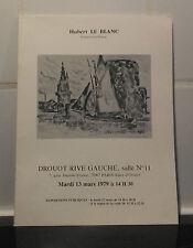 Catalogue Vente 1979 Drouot Rive Gauche Salle N°11Dessins Aquarelles estampes...