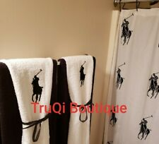 Ralph Lauren CUSTOM Antimicrobial Polo Decorative Bath Towel 30 X 56 WHITE