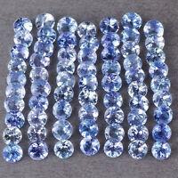 5 PIECES OF RARE 3mm ROUND-FACET PURPLE/BLUE NATURAL TANZANITE GEMSTONES