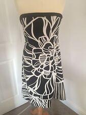 Coast Strapless Evening Dress, Black/White Patterned ,Size 10!
